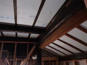 天井断熱施工