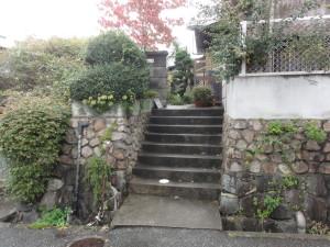 改修前のアプローチ階段