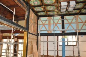 2012年3月27日:増築部屋根工事