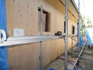 構造用合板による耐力壁補強
